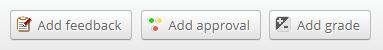 Feedback panel options